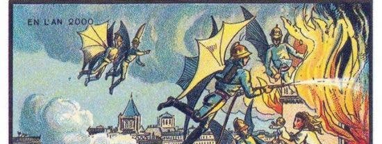 Así imaginaban el mundo los expertos de hace 100 años: Policías con alas y tenis submarino