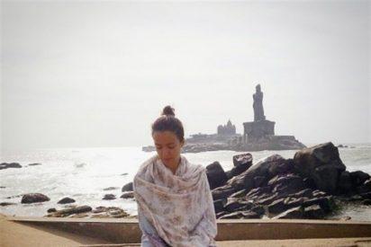 Verónica Sánchez recarga fuerzas en la India