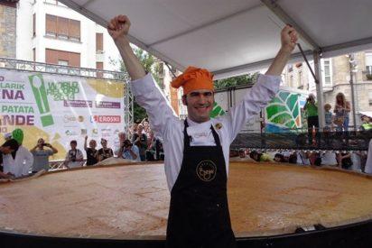 Vitoria obtiene el récord Guinness a la tortilla de patata más grande del mundo