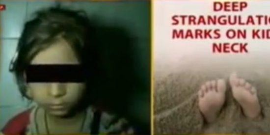 Entierran viva a su sobrina de 5 años tras haberla secuestrado