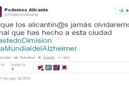 Podemos sigue cosechando 'memorables' tuits: ¡usa ahora el Día Mundial del Alzheimer con fines políticos!