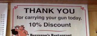 Si vas a este restaurante pistola en bandolera el dueño te hace un suculento descuento