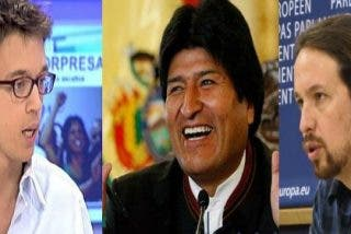 "Pablo Iglesias y Errejón adulan en Bolivia a Evo Morales tras ser recibidos al grito de: ""¡Burgueses, demagogos, vende burras!"""