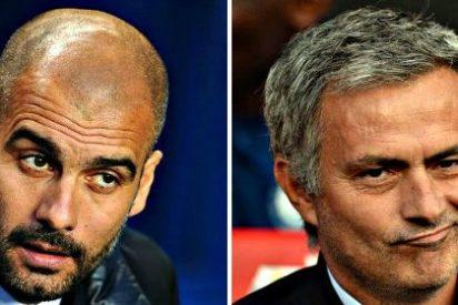 Mourinho se burla de la alopecia de Guardiola