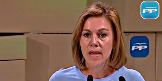 """María Dolores Cospedal: """"Se gobierna con la ley y no con manifestaciones"""""""