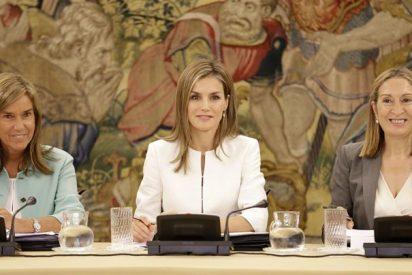 Doña Letizia, en blanco y negro, preside el Consejo del Real Patronato sobre Discapacidad