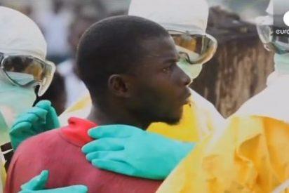 El vídeo de la fuga del hospital de un enfermo de ébola armado con un palo y piedras