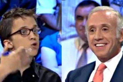 """Eduardo Inda acusa a Pablo Iglesias de pagar en negro y 500 euros mensuales a los trabajadores de 'La Tuerka' y su subalterno Errejón alega que lo hacen por """"altruismo"""""""