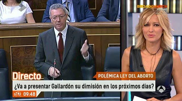 """'Espejo Público' sentencia a Gallardón: """"Ha firmado su testamento"""""""