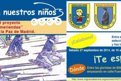 La calle Fuencarral se convierte en una gran pista de patinaje solidario