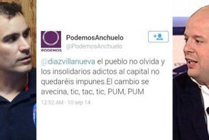 """Un círculo de Podemos pide aplicar """"justicia proletaria a periodistas basura"""" y amenaza: """"tic, tac, PUM, PUM"""""""