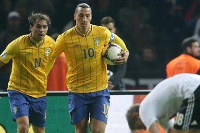 Ibrahimovic suelta un brutal codazo a Alaba