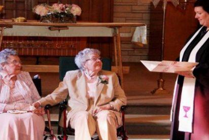 Dos nonagenarias lesbianas se casan aconsejadas por la familia tras pasar 70 años juntas