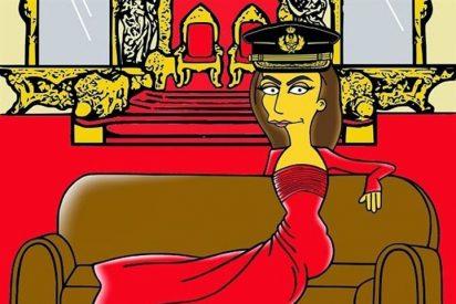 CHANCE se lo pidió y Palombo cumplió: la Reina Letizia, toda una Simpson