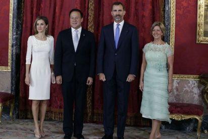 Los Reyes de España ofrecen un almuerzo en honor al presidente de Panamá, Juan Carlos Varela