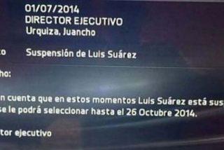 Luis Suárez no podrá ser usado en el FIFA 15 hasta el 26 de octubre