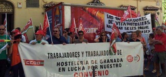 Unos 15.000 trabajadores de hostelería, llamados a la huelga en Granada