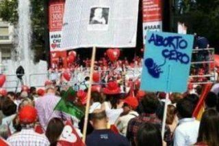"""""""Pinchazo"""" de las marchas que exigen al Gobierno derogar la ley del Aborto"""