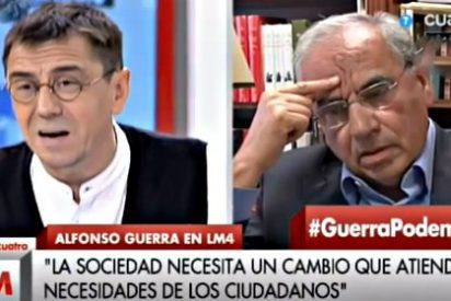 Jesús Cintora sale escaldado de la 'enganchada' entre Alfonso Guerra y Juan Carlos Monedero