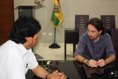 """Los líderes de Podemos le rinden pleitesía a su gurú Evo Morales por ser """"un verdadero patriota"""""""