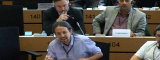 [Vídeo] Pablo Iglesias confunde el Parlamento Europeo con laSexta y le cierran la boca