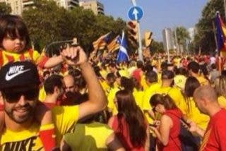 Piqué vuelve a manifestarte en Twitter a favor de la independencia