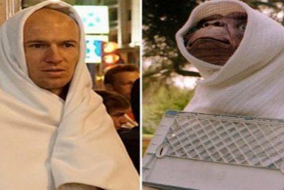 Las redes sociales se mofan del parecido entre Robben y E.T.