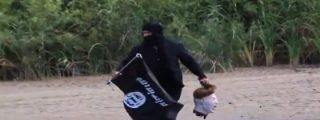 El vídeo del 'yihadista' que cruza la frontera con una cabeza decapitada deja a Obama con el culo al aire