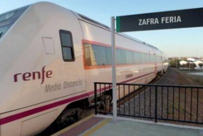 Las plazas de tren para viajar a Zafra durante la feria se cuadruplican