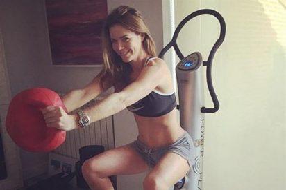 Amelia Bono y su 'instamomento' animando a sus seguidores a hacer ejercicio