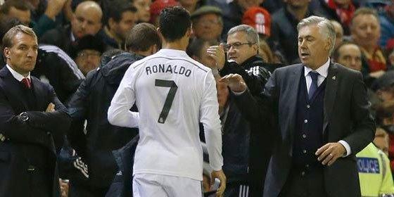 """Recadito de Ancelotti a Luis Enrique: """"He cambiado a Cristiano Ronaldo sin preguntarle"""""""