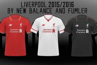 Así será la camiseta del Liverpool de la próxima temporada