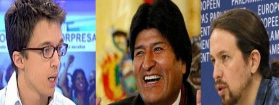 """Evo Morales espolea a los """"vende burras"""" de Podemos para subirse al carro europeo ¡Ya los ve en el Gobierno!"""