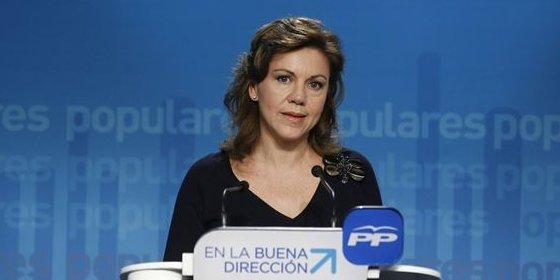 """Cospedal no ve oportuno """"poner en riesgo lo que tanto nos ha costado construir en España"""""""