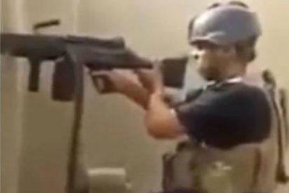 [Vídeo] El 'Rambo' iraquí dispara cientos de balas y cae abatido por culpa de sus calcetines blancos