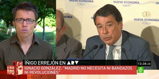 Ignacio González le da una vuelta de 'Tuerka' al 'niño pera' de Podemos