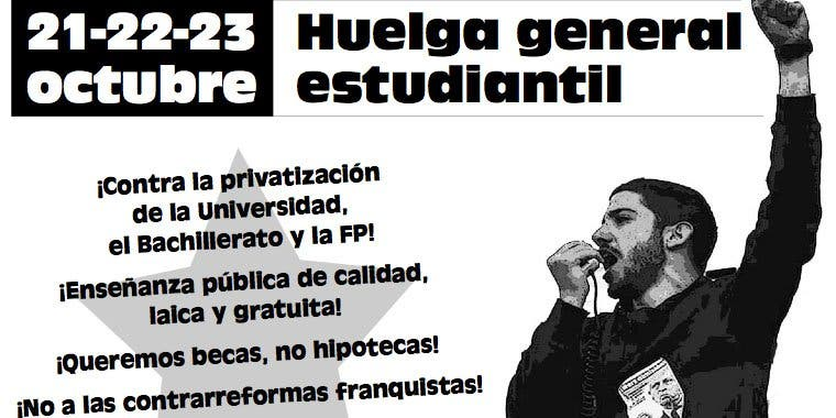 "Sindicato de Estudiantes llama a una huelga ""masiva"" el 21, 22 y 23 de octubre"