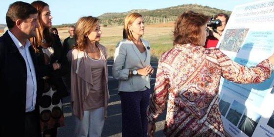Cospedal inaugura el tramo de la CM-412 entre Ciudad Real y Picón