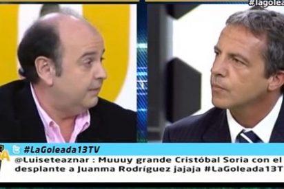 """Juanma Rodríguez, tras negarle Cristobal Soria el saludo: """"Ya dije que un canal como éste no merecía tener gente de tan baja estofa"""""""