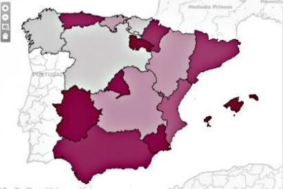 ¿En qué región de España se perpetran más robos y asesinatos?