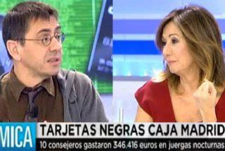 """Ana Rosa le muestra los errores a Monedero con el caso de Caja Madrid: """"Vosotros que proponéis bancos públicos, mira lo que pasa cuando lo son"""""""