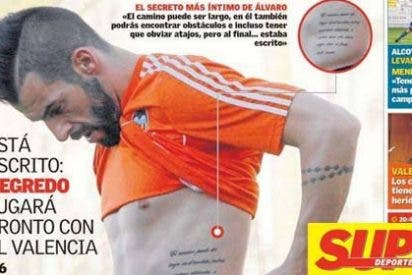 El tatuaje con el que se motiva Negredo