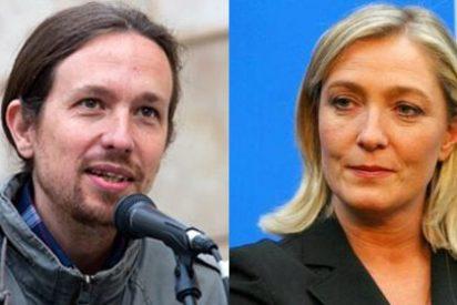 Mayte Alcaraz (ABC) encuentra a la nueva mejor amiga de Pablo Iglesias: Marine Le Pen