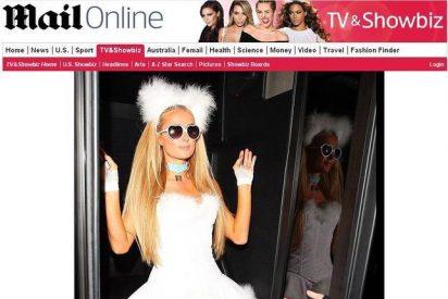 Paris Hilton se disfraza de su perrita para Halloween