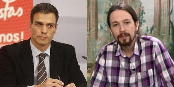 """Pedro Sánchez, Zapatero, Pablo Iglesias y el mantra: """"No nos falles, no nos falléis"""""""