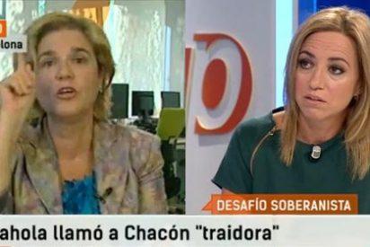 """Rahola insiste en su afrenta a Carme Chacón: """"Ha descubierto que hablar contra la consulta vende en España y se ha apuntado al carro"""""""