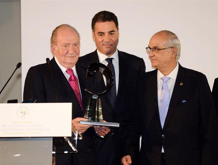 El Rey Don Juan Carlos, feliz con su 'Reconocimiento a la Integración Iberoamericana'