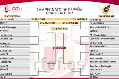 En Copa del Rey vamos a tener, casi seguro, derbi madrileño en octavos y 'clásico' en cuartos