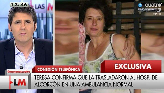 """La auxiliar contagiada de ébola a Cintora tras 12 minutos de entrevista: """"¿Tú quién eres?"""""""