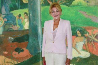 Tita Cervera, anfitriona de lujo en la exposición de Givenchy